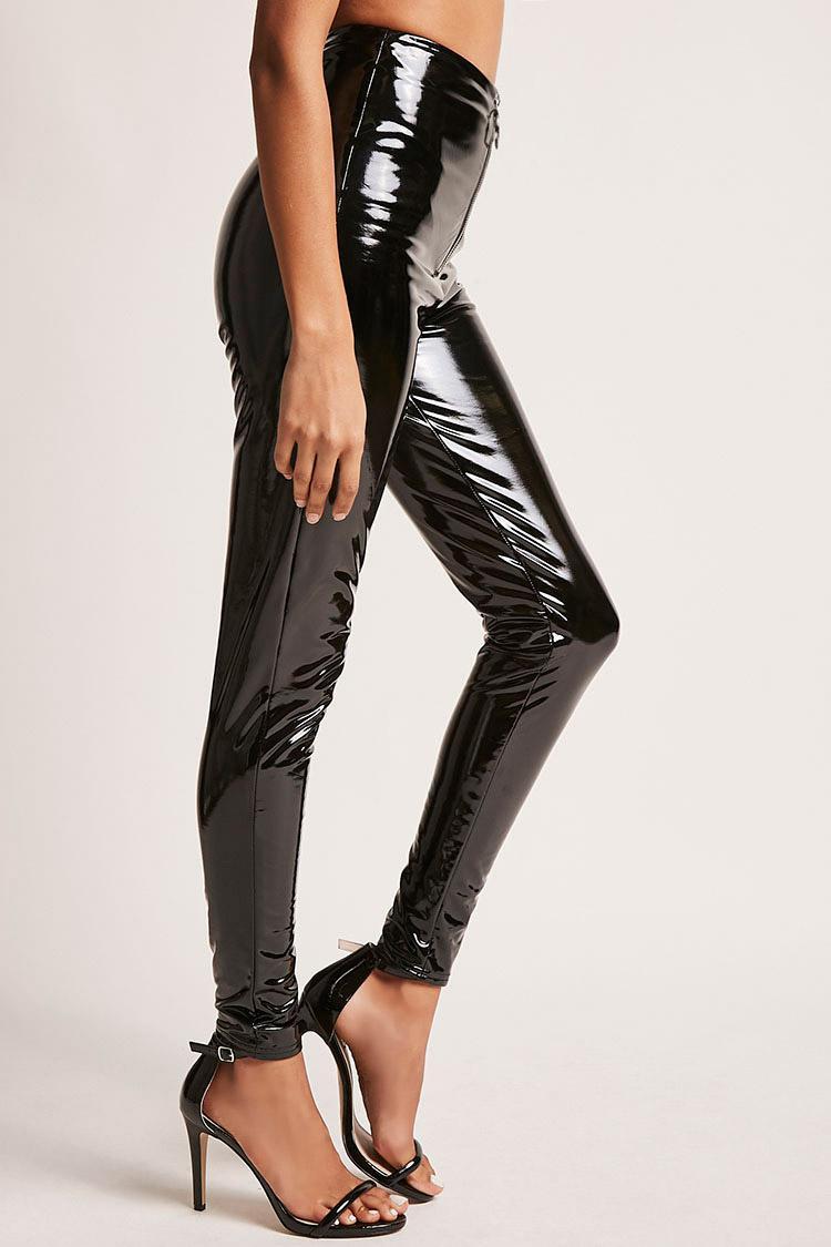a1fbdf30850b82 Gallery. Women's Black Leather Pants Women's Faux ...