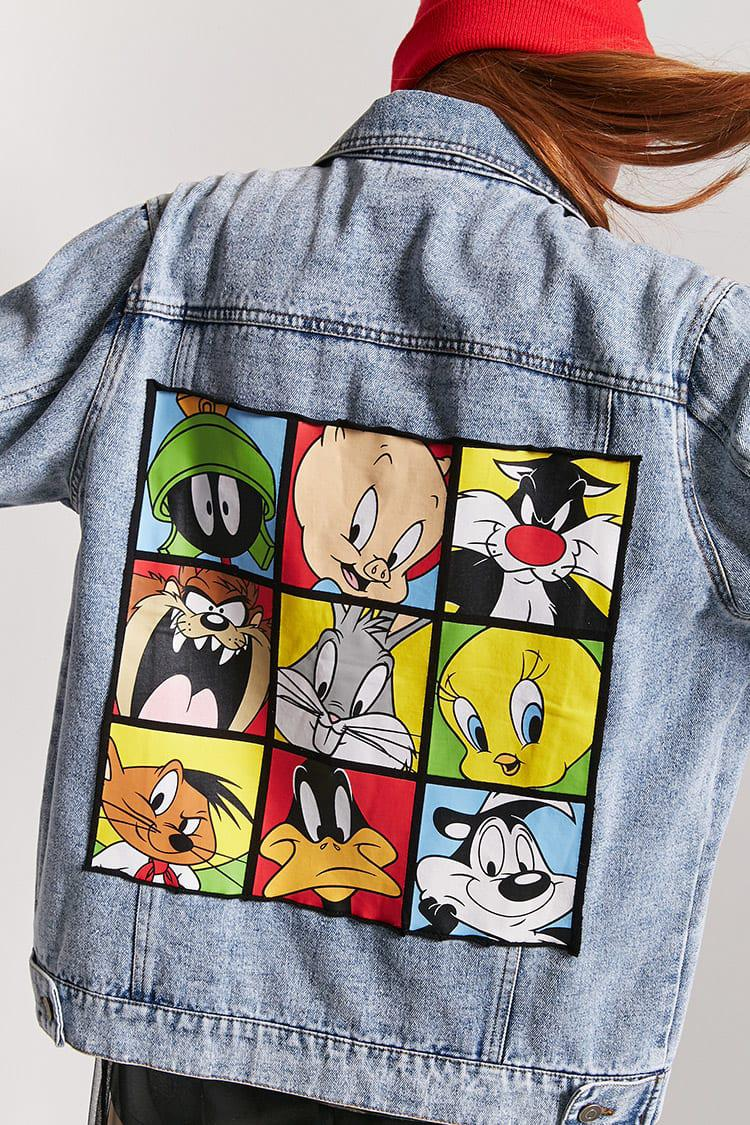 f9297e4f7a Forever 21 Looney Tunes Denim Jacket in Blue - Lyst