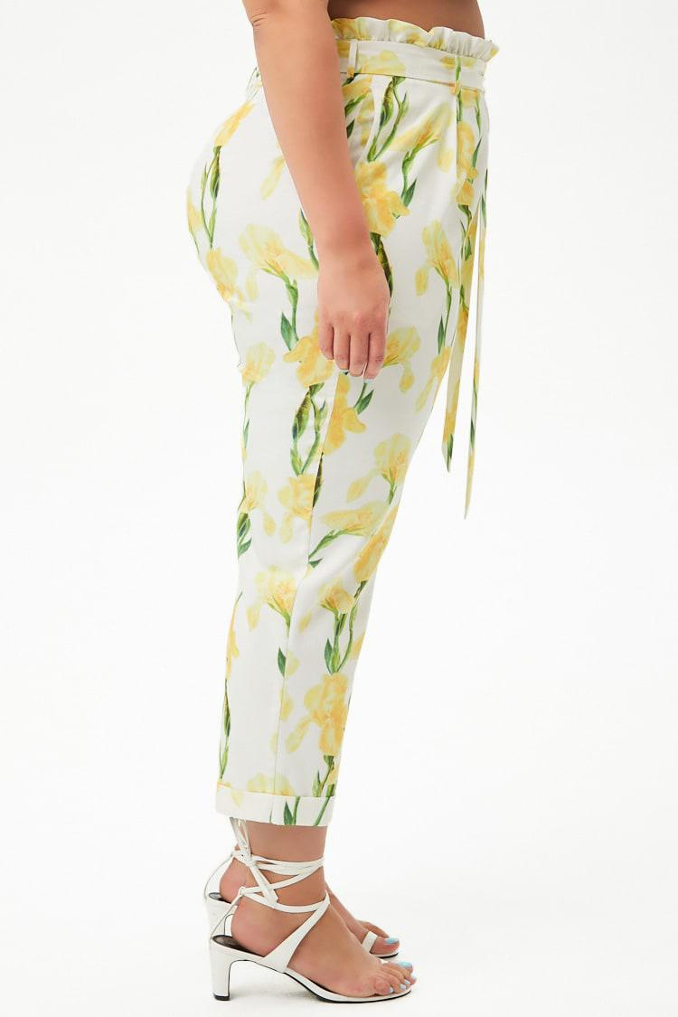 49a0d1a5b14 ... Plus Size Floral Print Paperbag-waist Trousers - Lyst. View fullscreen