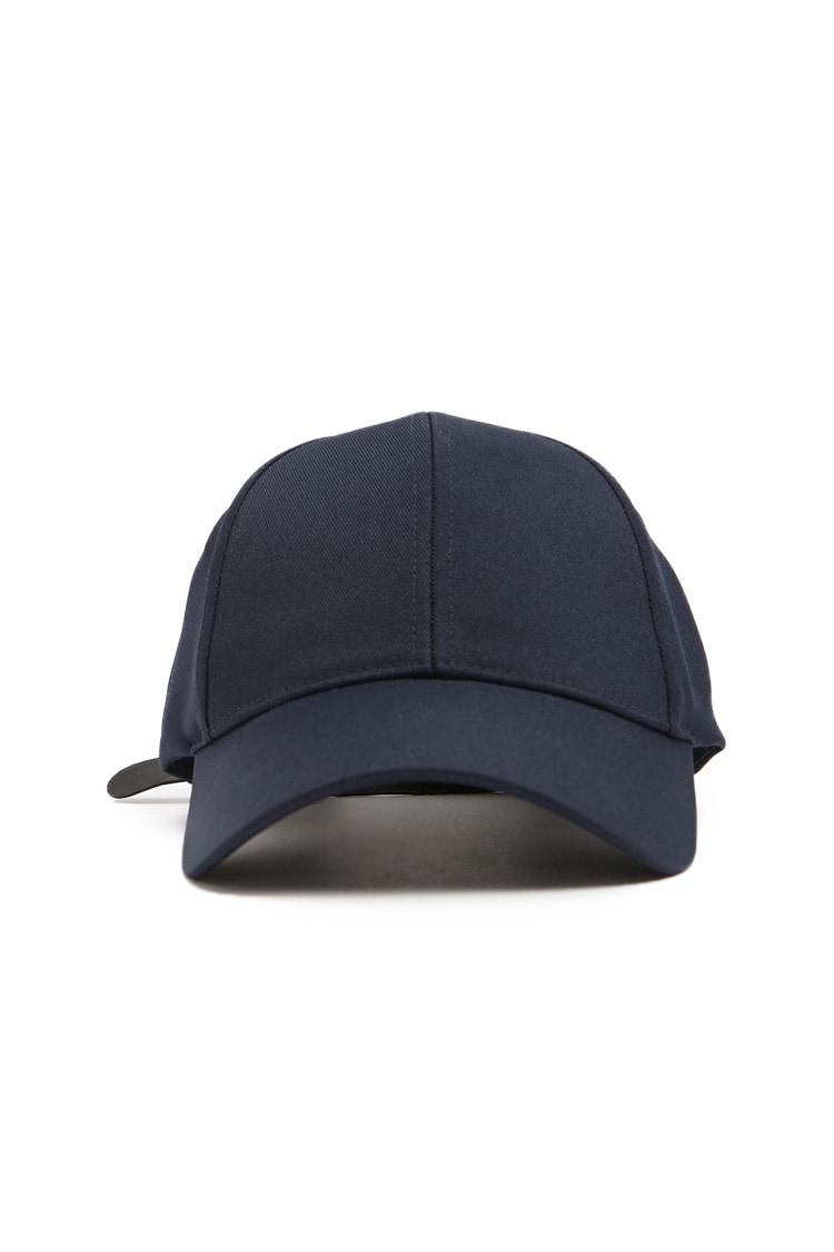 73c418c42 Forever 21 's Faux Leather-strap Dad Cap in Blue for Men - Lyst