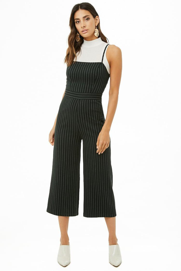 23f3f7eeae45 Lyst - Forever 21 Women s Striped Cami Jumpsuit