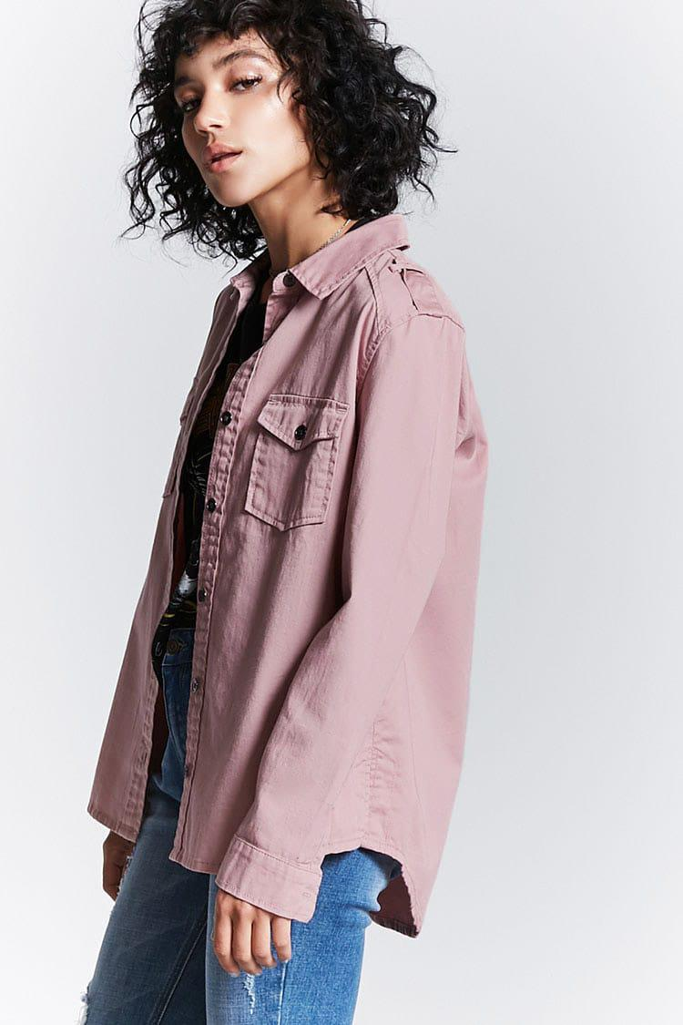 ... Pink Twill Woven Pocket Shirt   Lyst. View Fullscreen