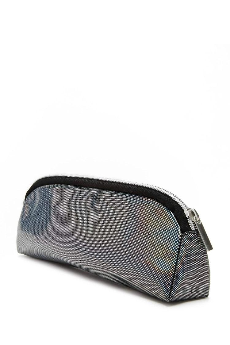 1b77fcd80c5 Forever 21 Holographic Makeup Bag in Black - Lyst