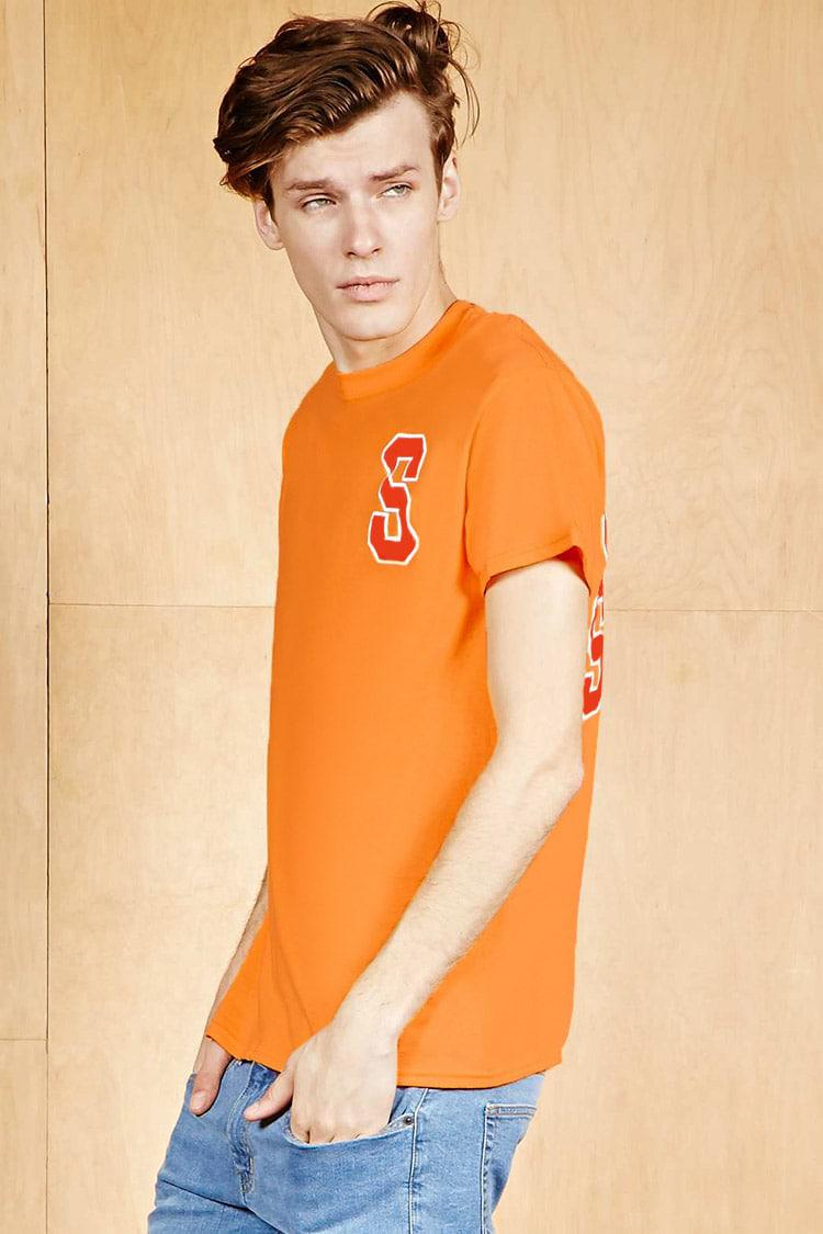 Lyst Forever 21 Human Condition Savage Tee In Orange For Men