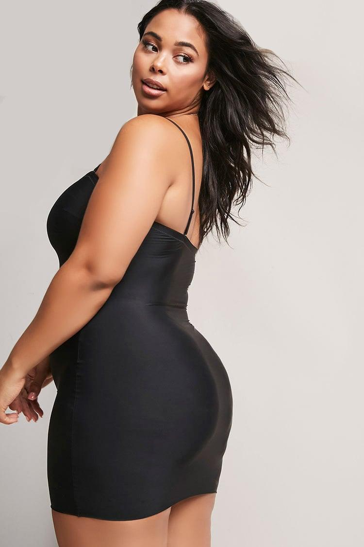 dfcbdcf0d Lyst - Spanx Plus Size Assets By Shaping Convertible Slip At in Black