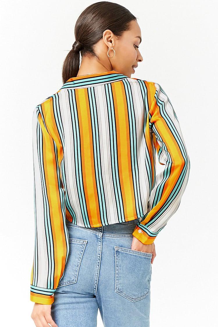 Buy Cheap View Top Quality Cheap Online Satin Stripe Shirt - Cream stripe Unique 21 Sale Prices UgL1IQTy