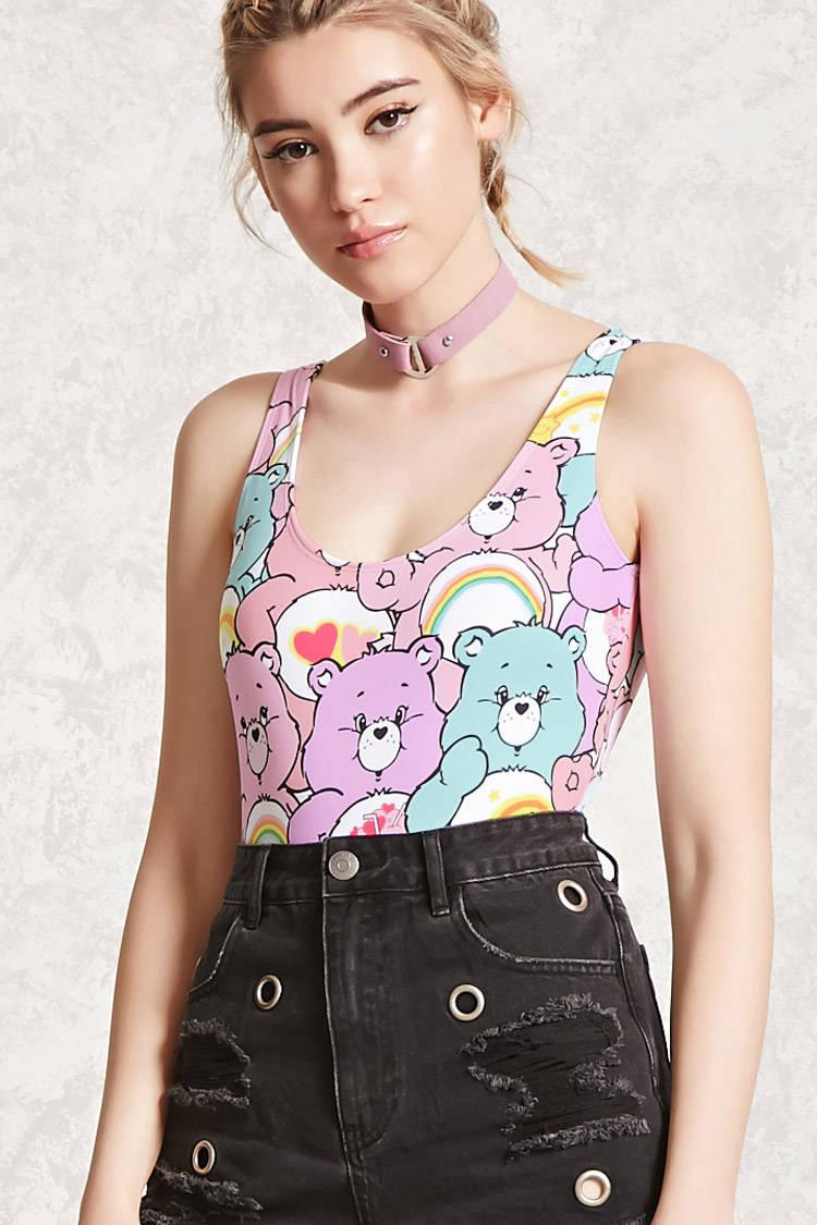 8fc8aad060 Lyst - Forever 21 Care Bears Graphic Bodysuit