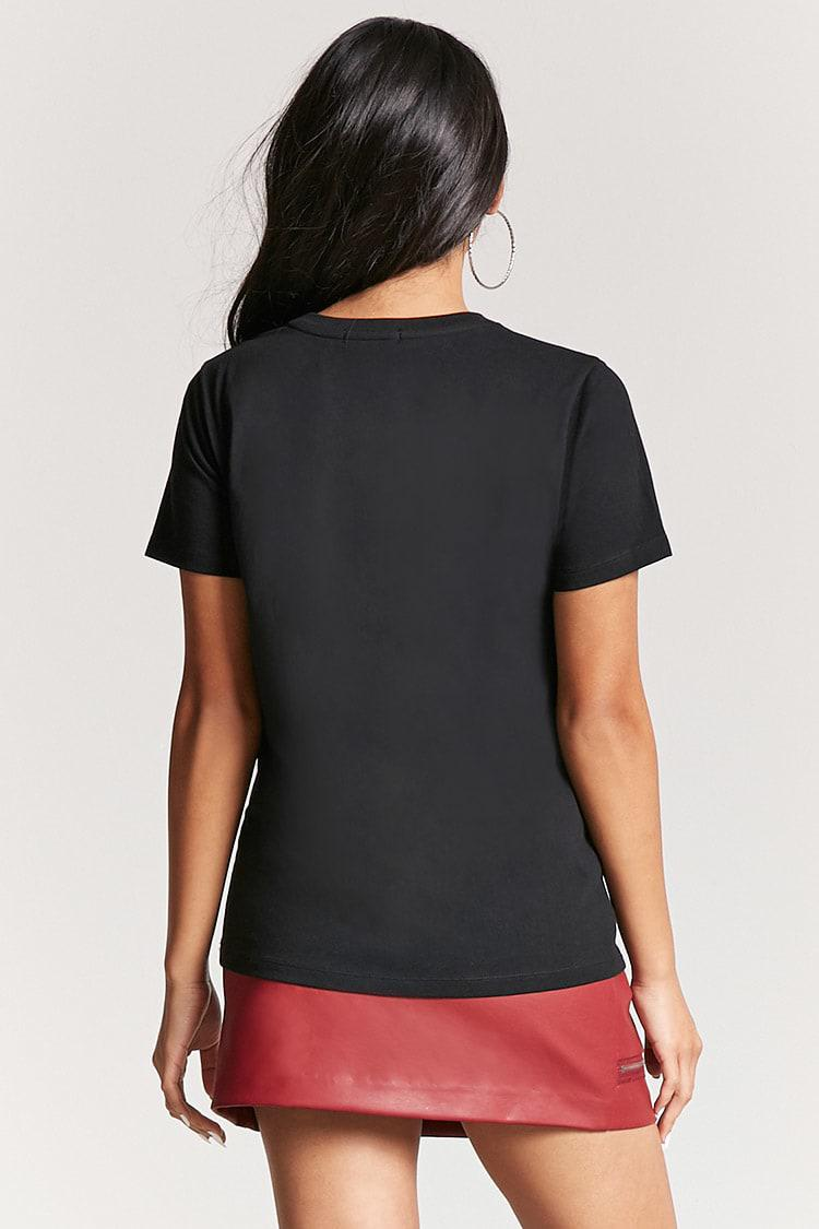30acfa6171f Lyst - Forever 21 Princess Graphic Tee in Black