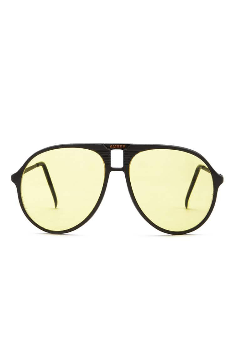 1e8bce8609 Lyst - Forever 21 Yellow Tint Aviator Sunglasses in Yellow