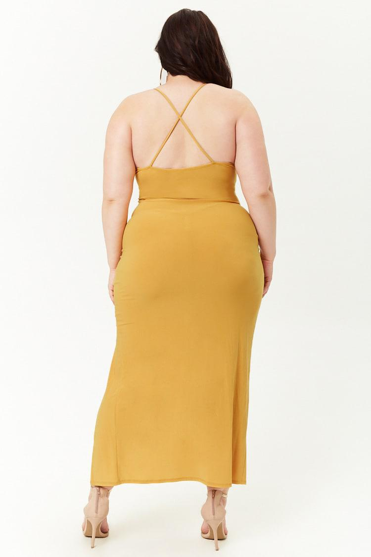 be66a252a874 Forever 21 - Yellow Women's Plus Size Cami Maxi Dress - Lyst. View  fullscreen