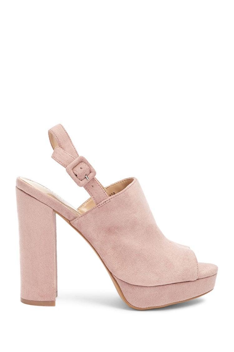 a3b32c67 Forever 21. Zapato antelina con tacón de mujer de color rosa