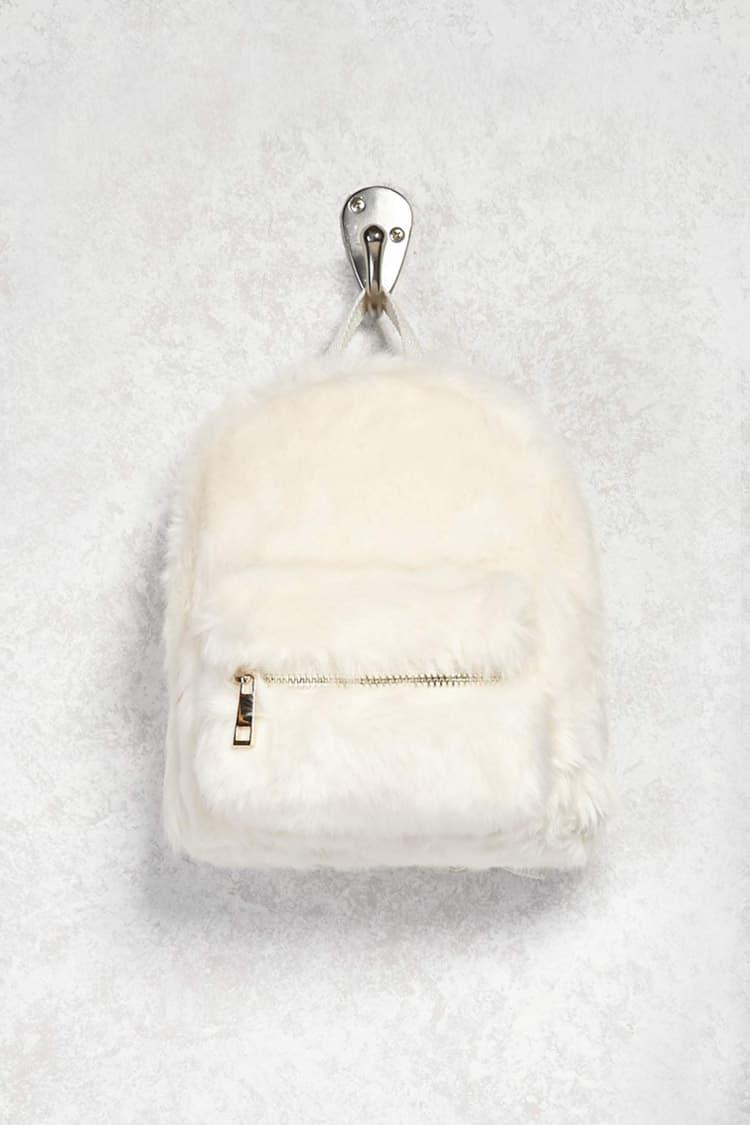 d0d8c2ed90 Lyst - Forever 21 Faux Fur Mini Backpack in Natural