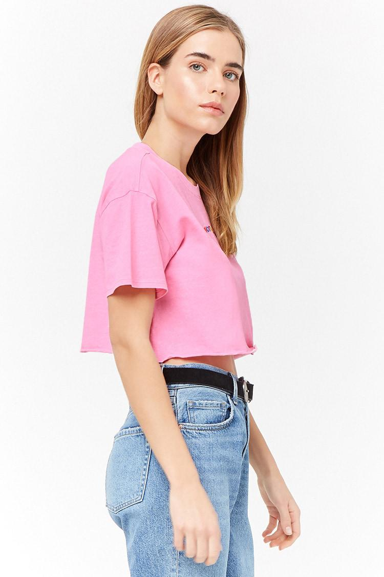 173e5998115 Forever 21 Emotional Graphic Tee in Pink - Lyst