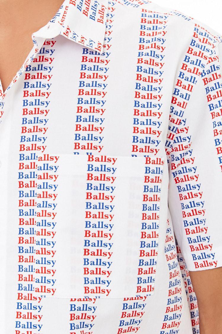 b87cbb65aa Lyst - Forever 21  s Multicolor Ballsy Graphic Shirt in White for Men