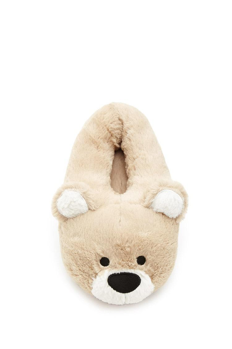 3d78f75f762e Lyst - Forever 21 Bear Slippers in Natural