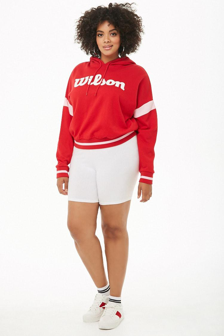3265be387d Forever 21 - Red Women s Plus Size Wilson French Terry Hoodie - Lyst. View  fullscreen