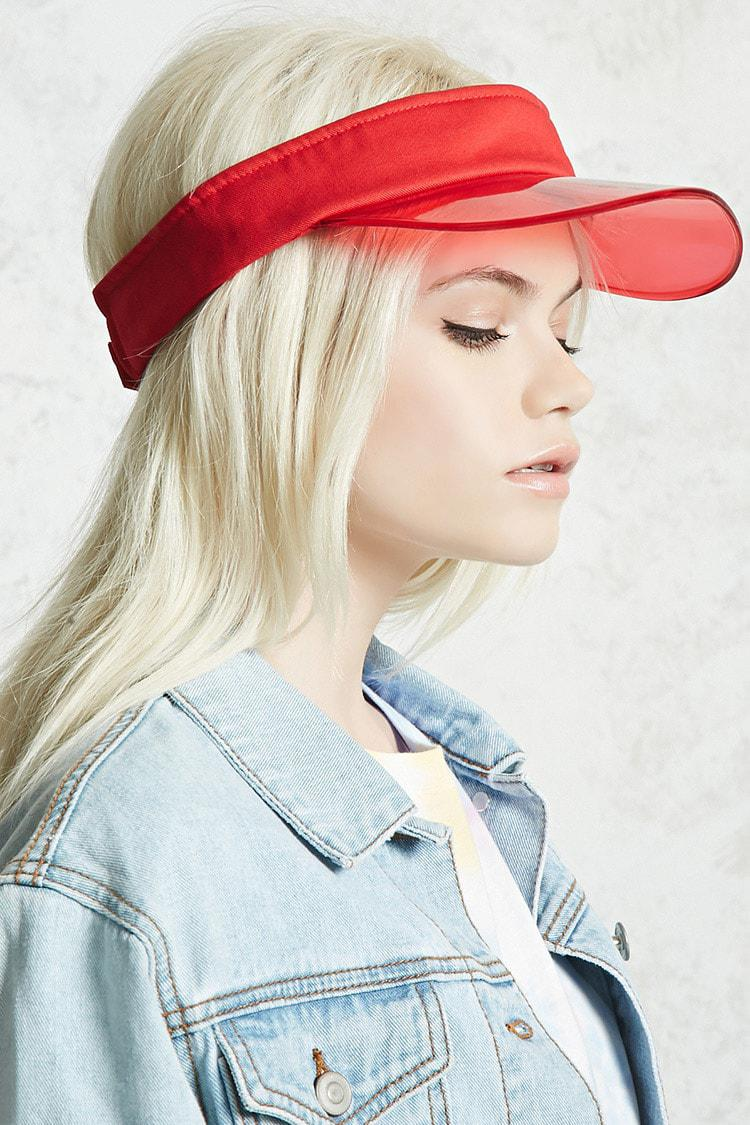 Lyst - Forever 21 Translucent Brim Visor in Red aaabda70f5e