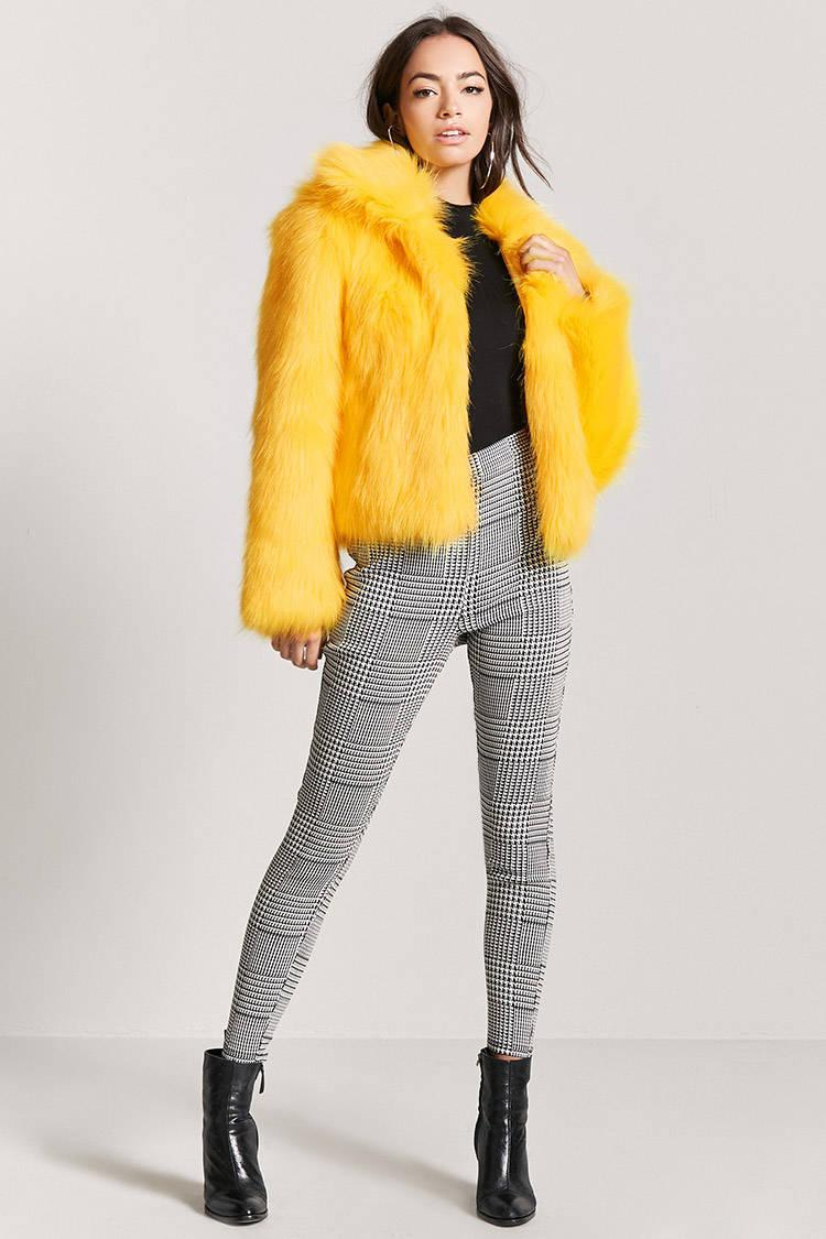 41400bd58a4a Faux Fur Coat With Hood S Women Winter Hooded Fake Coats Plus