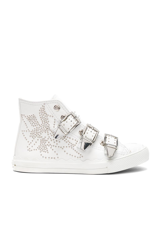 Visit Cheap Online Chloé Chloe Embellished Buckle Hi Top Sneakers Cheap Visit New uLK1Pp1x
