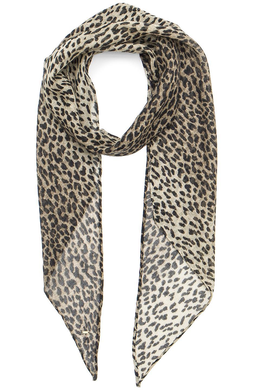 Scarf in silk with animalier pattern Saint Laurent sEmlpv5