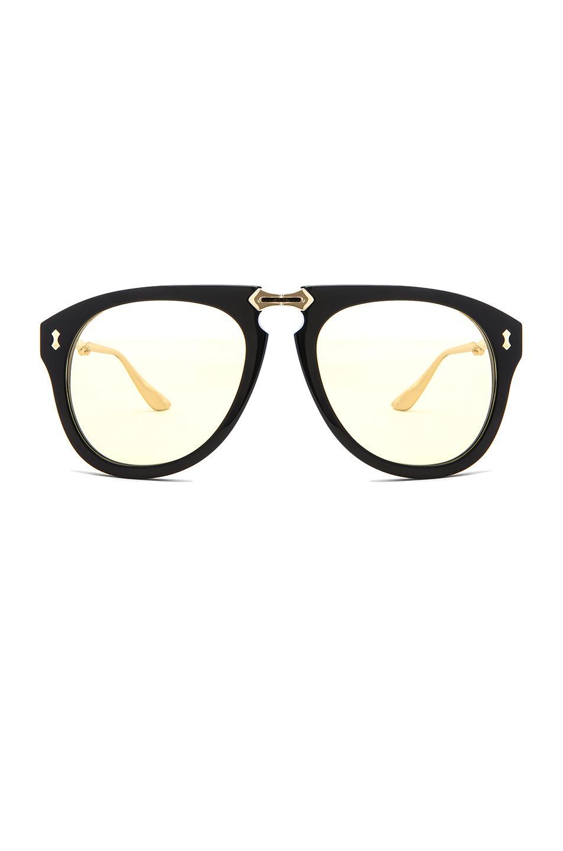 663221c33c Lyst - Gucci Big Rivets Sunglasses in Metallic