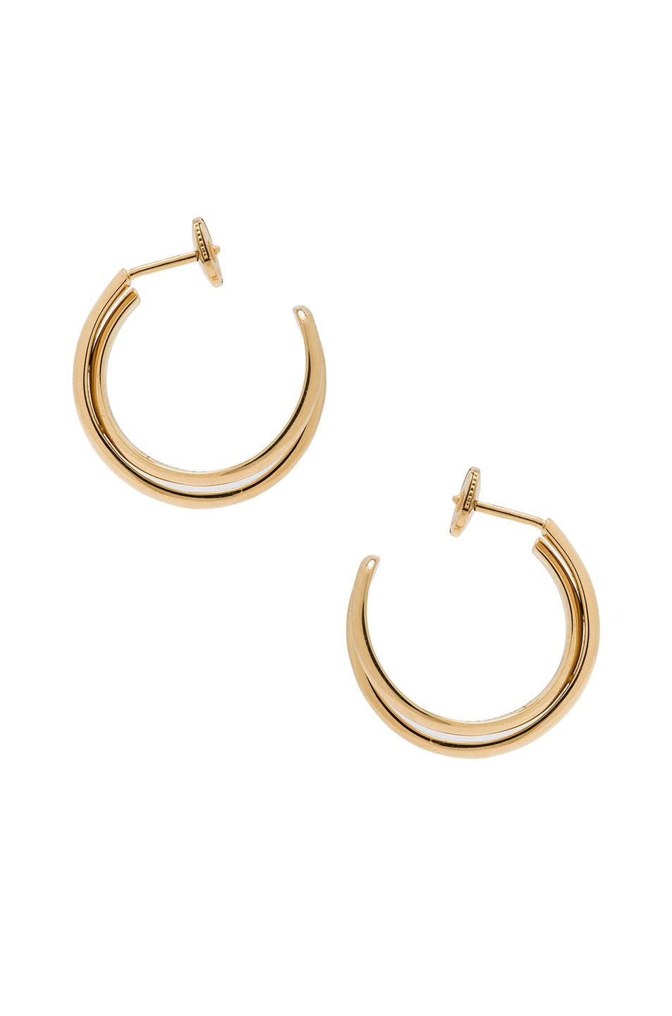 Maison Martin Margiela Fine Twisted Earrings in Metallics j5mIl6G