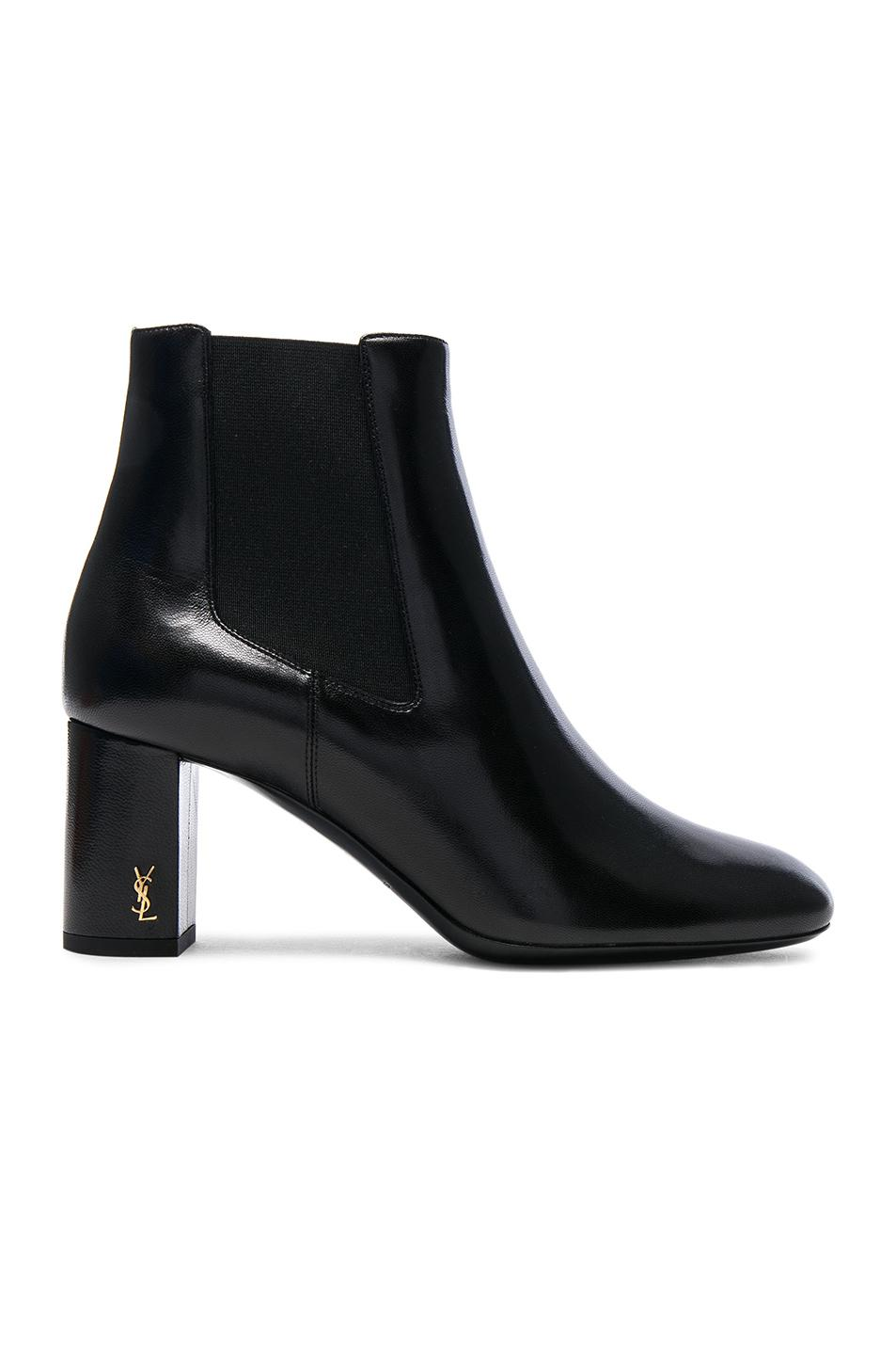 Saint Laurent Leather Loulou Pin Boots in . sOo4GjN