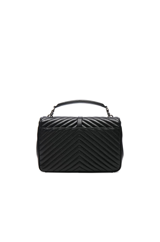 70ff3386e0c9 Lyst - Saint Laurent Large Monogramme College Bag in Black
