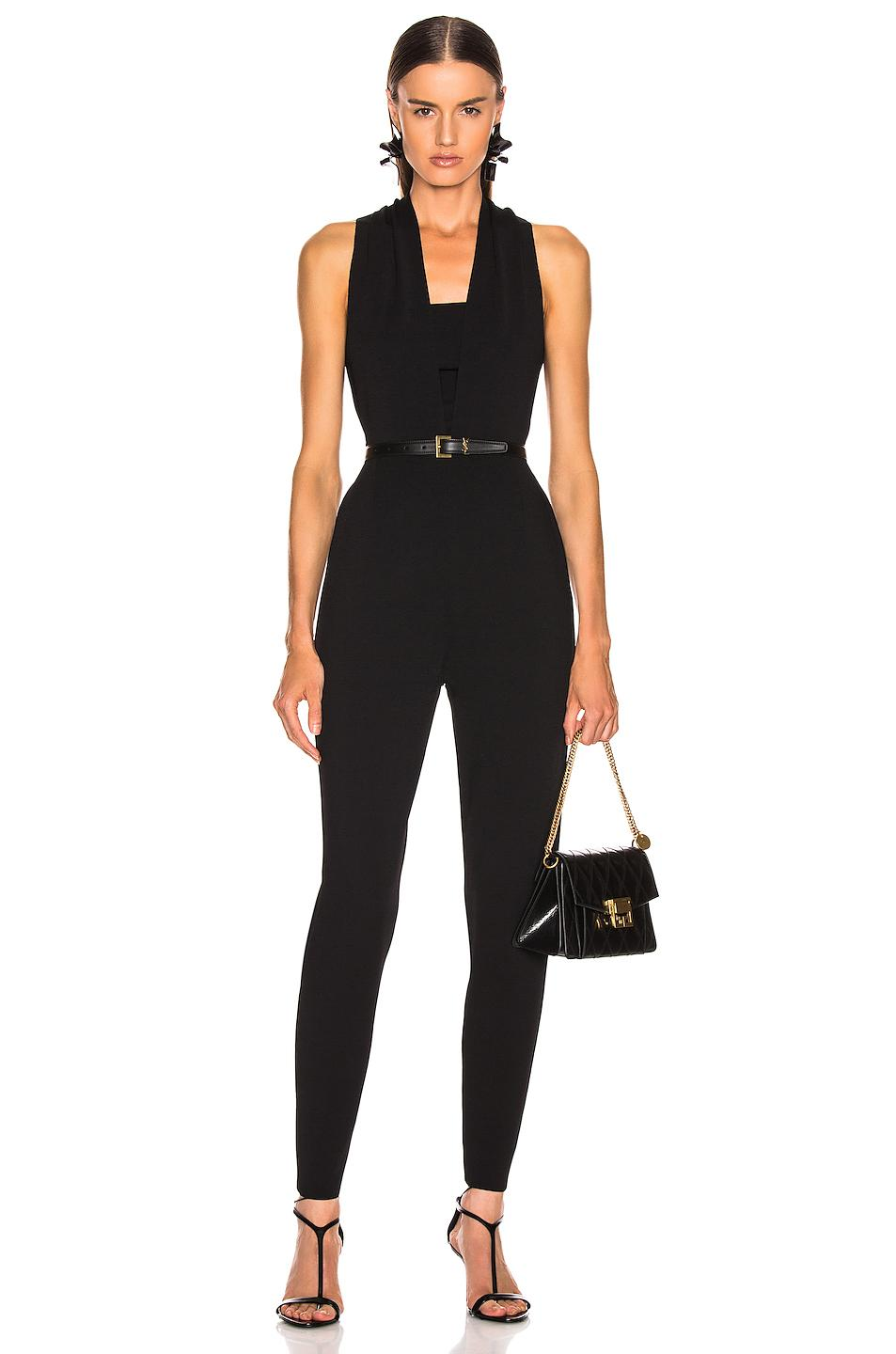 a17f0bef2f6 Lyst - Stella McCartney All In One Strong Jumpsuit in Black