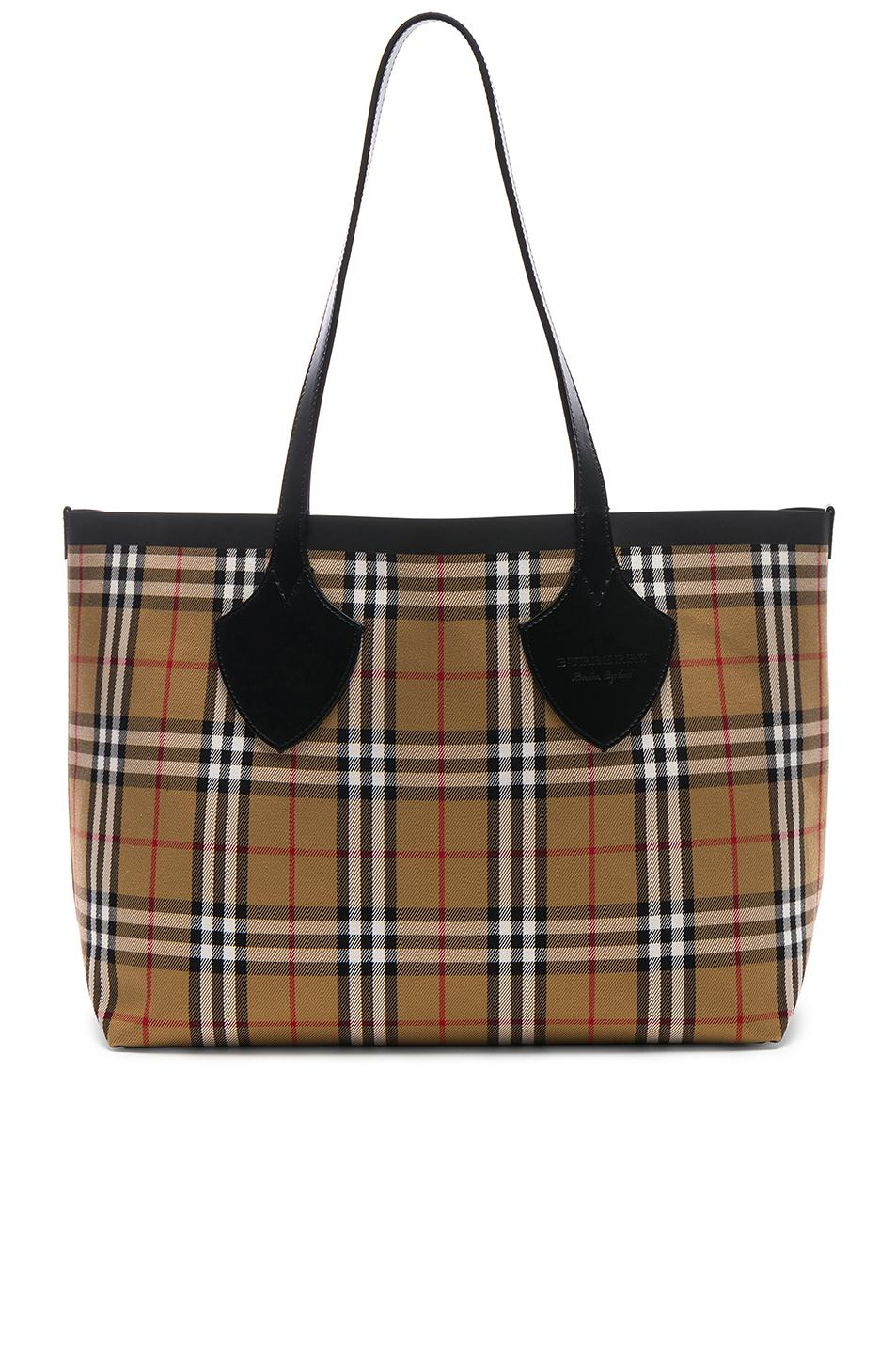 Burberry. Women s Reversible Vintage Check Tote 441fcad67658b