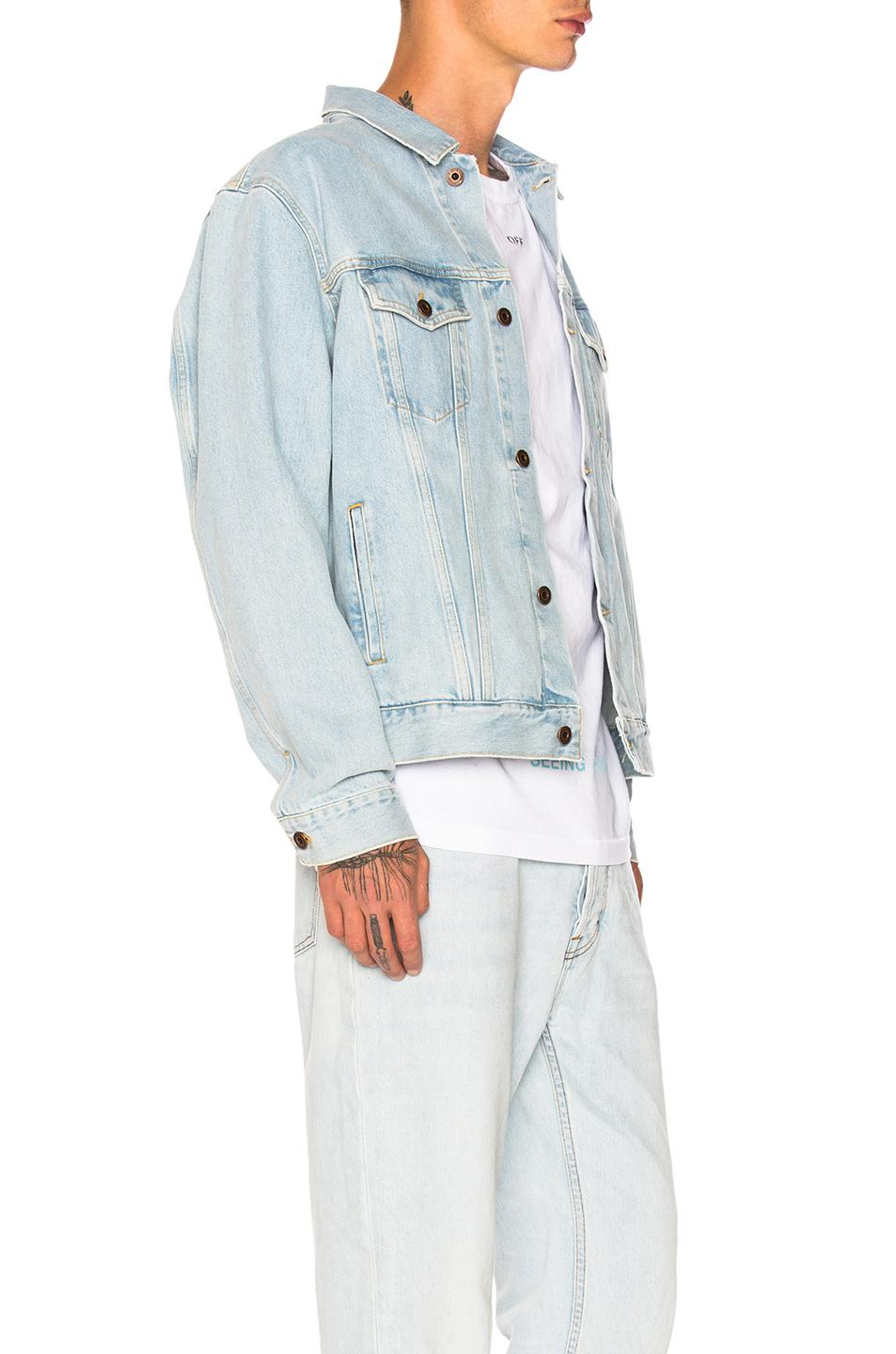 b64acd1d8890 Lyst - Off-White c o Virgil Abloh Not Real Angel Oversized Denim ...