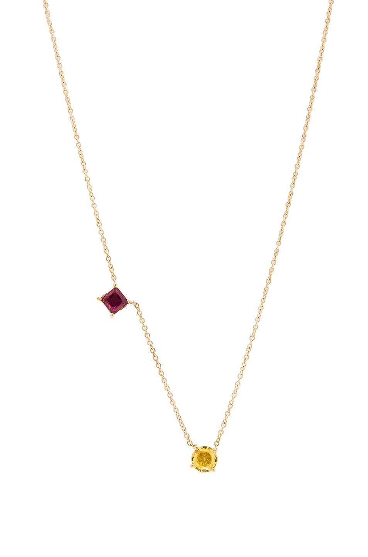 Ileana Makri Round & Square Necklace in Metallics uIqESod
