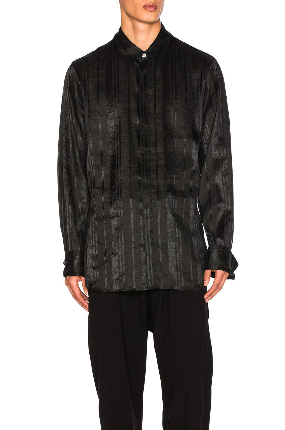 Ann demeulemeester tie back shirt in black for men lyst for How to make a tie back shirt