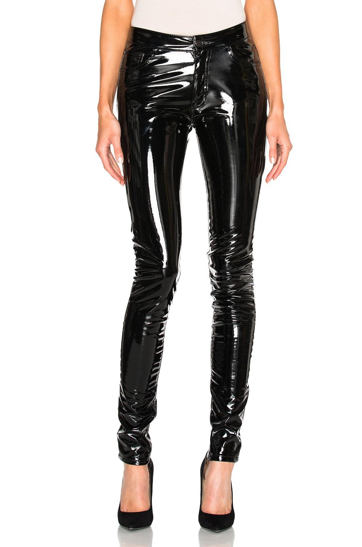 anthony vaccarello slim vinyl pants in black in black lyst. Black Bedroom Furniture Sets. Home Design Ideas