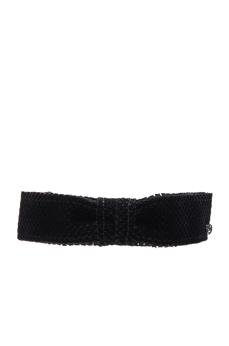 Maison Michel Kety Perforated Headband in Black dzBHHIv80A