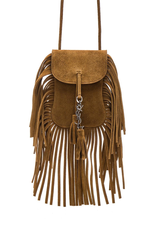 f6788feb761d Lyst - Saint Laurent Toy Anita Suede   Fringe Bag