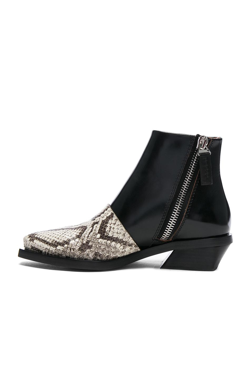 free shipping for sale Proenza Schouler Embossed Leather Wedge Booties sale order online cheap quality discount amazon Manchester sale online q7m9X58