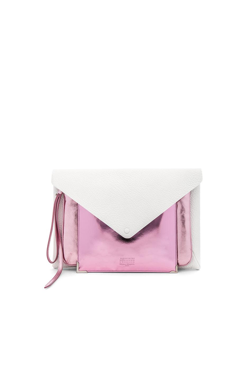 Huge Surprise Online metallic envelope clutch bag - Pink & Purple Maison Martin Margiela Best Place Online Outlet Supply faEbhMiI