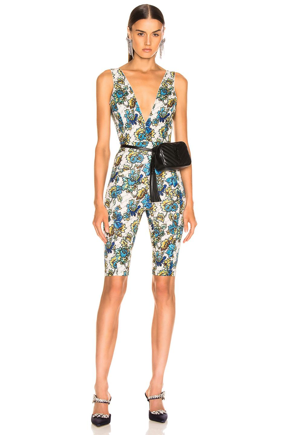 3195a16f66e Lyst - Stella McCartney All In One Monogram Jumpsuit in Natural