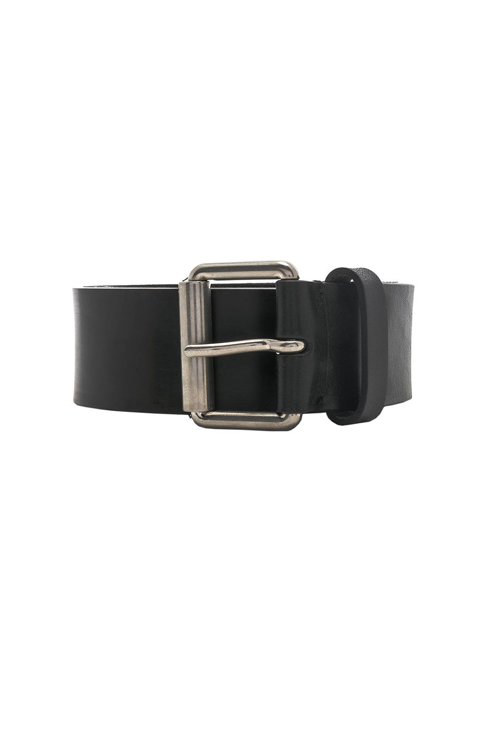 logo plaque belt - Black Maison Martin Margiela
