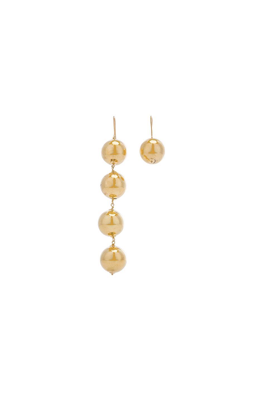 Marques Almeida Sterlin Silver Earrings Gold Color kjUiOhGZn