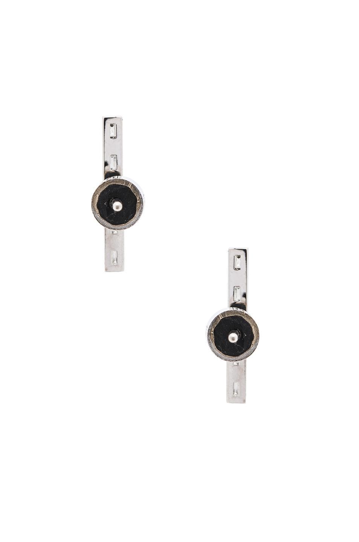 Ileana Makri Thread Baguette Stud Earrings in Metallics nDYsR4jD
