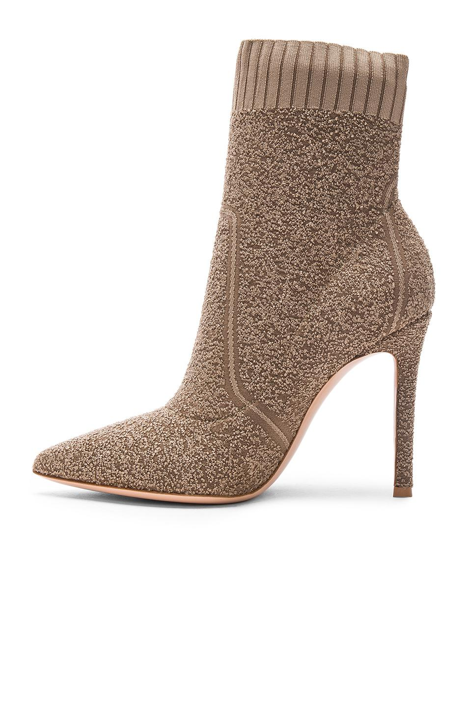 Gianvito Rossi Boucle Knit Katie Ankle Booties in . 0CAWMNG0CT