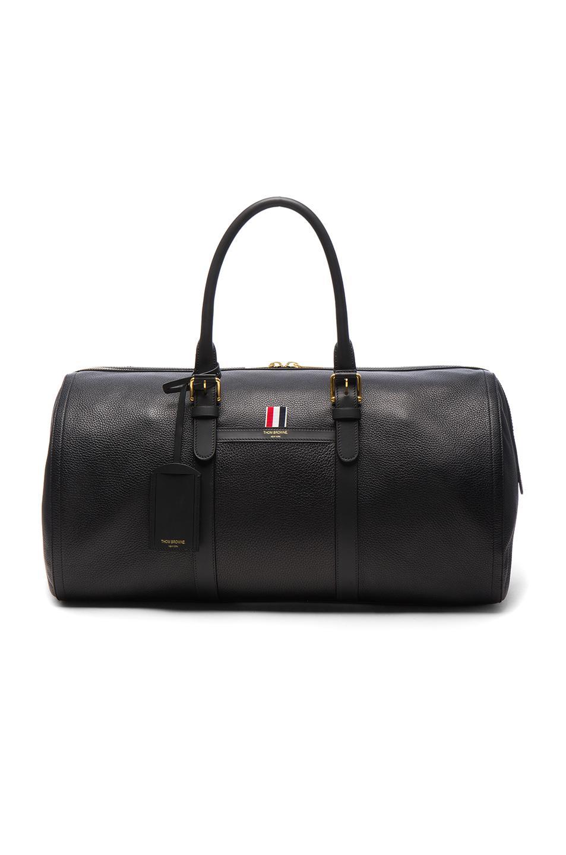 ad4fd9bc432 Thom Browne Deerskin Duffle Bag in Black - Lyst