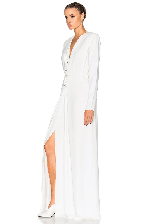 Outlet Fashionable Lanvin long V-neck dress Cheap Sale Big Sale Clearance Wide Range Of Online Sale Online ygU0QUs