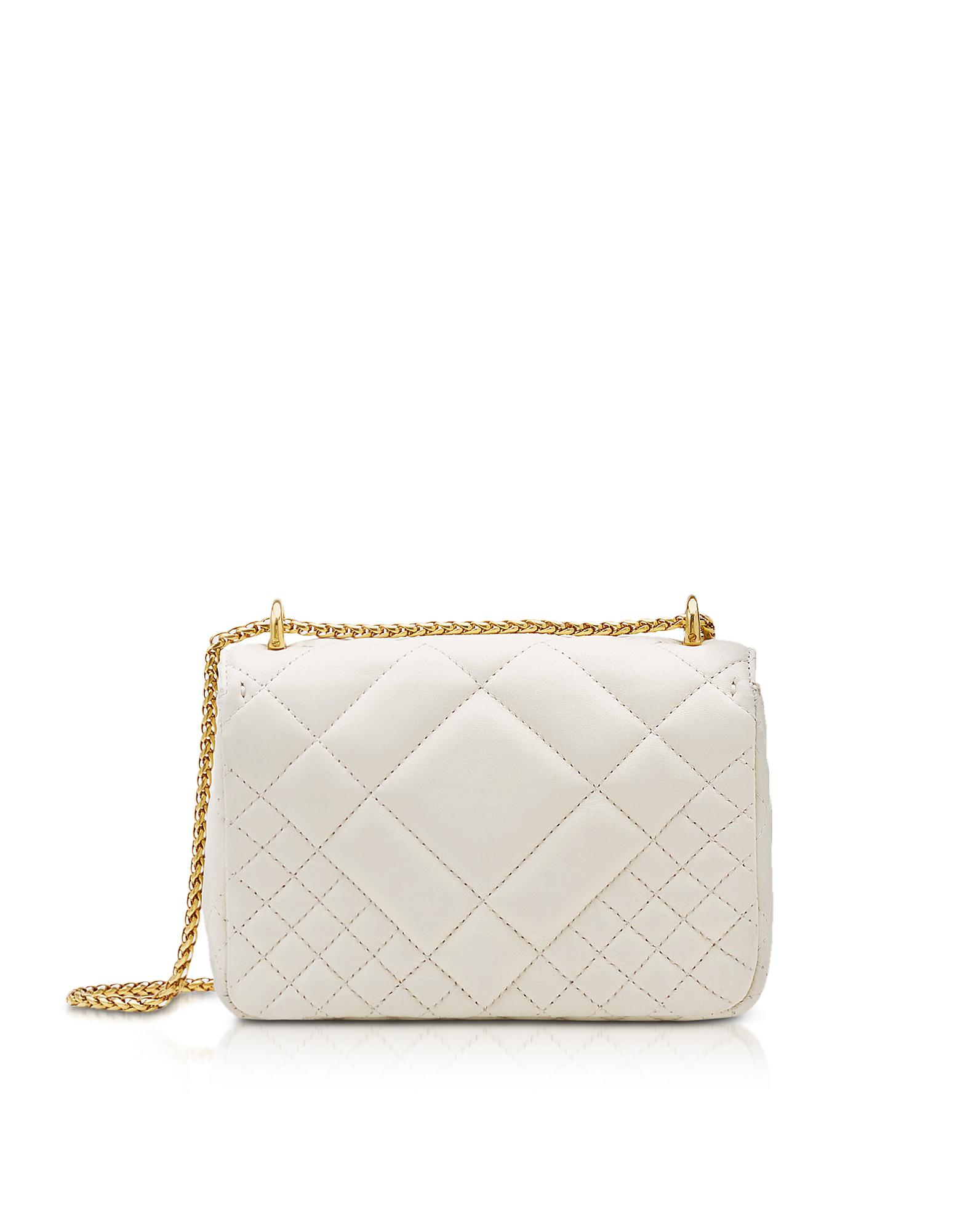 eee5d0d9a3 Versace. Women s White Small Quilted Leather Icon Small Shoulder Bag