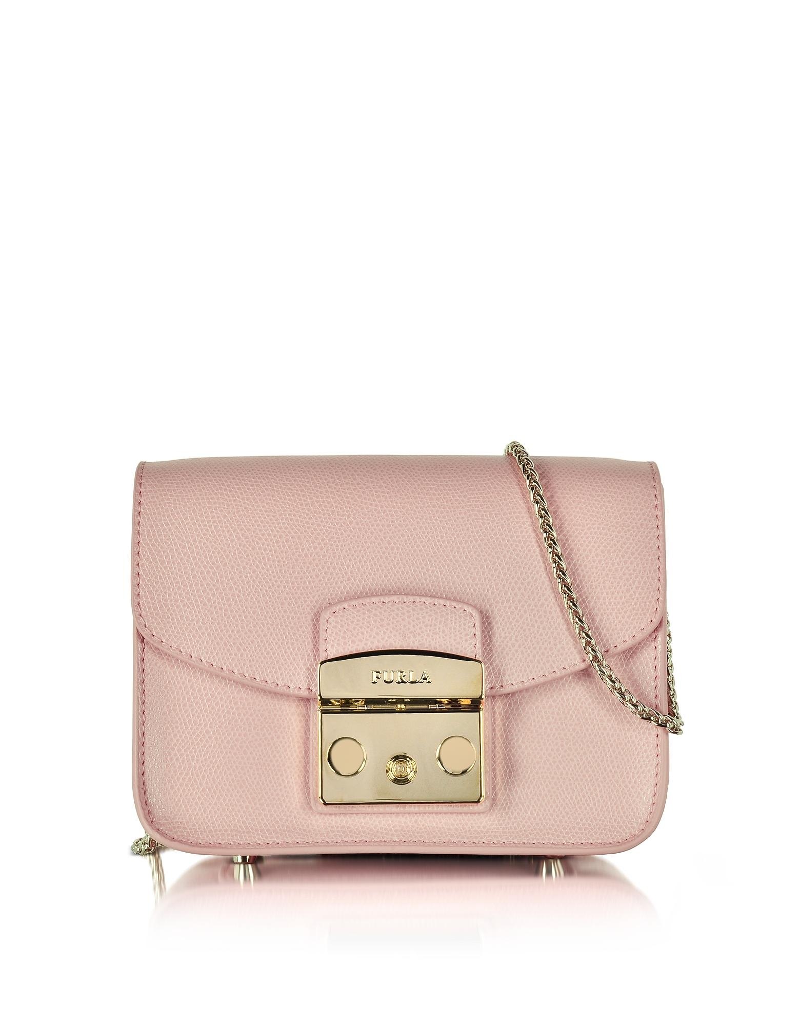 Furla Metropolis Mini Crossbody, Color Corallo: Handbags