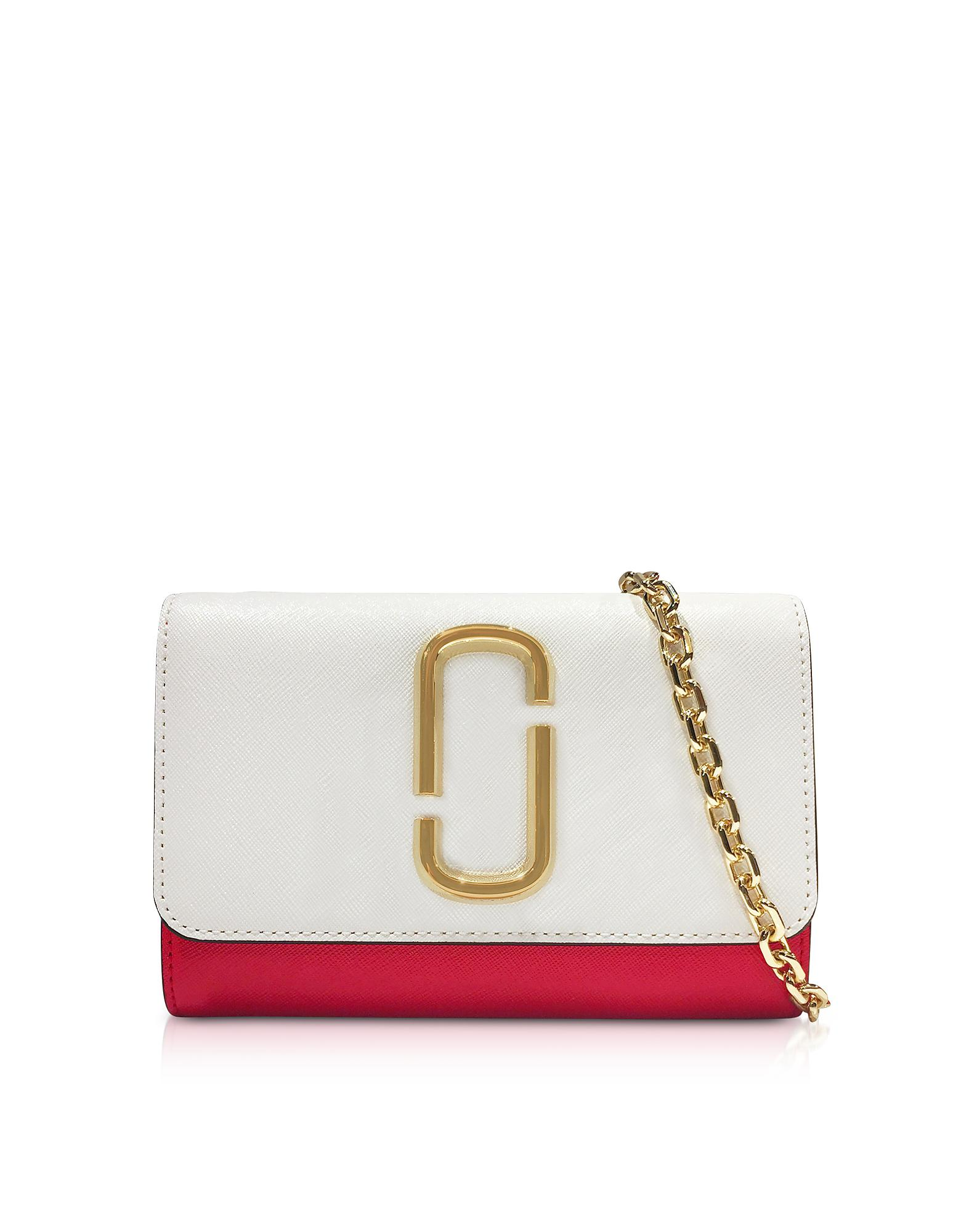 26d0857fca Marc Jacobs Snapshot Chain Wallet Clutch in White - Lyst