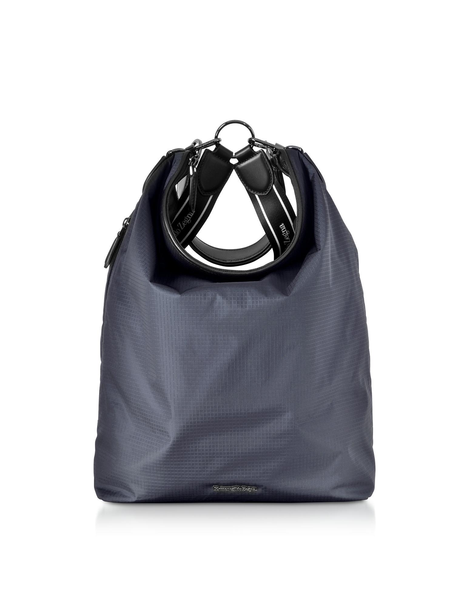 dcca33b948 Lyst - Ermenegildo Zegna Blue Nylon Men's Tote Bag/backpack in Blue ...