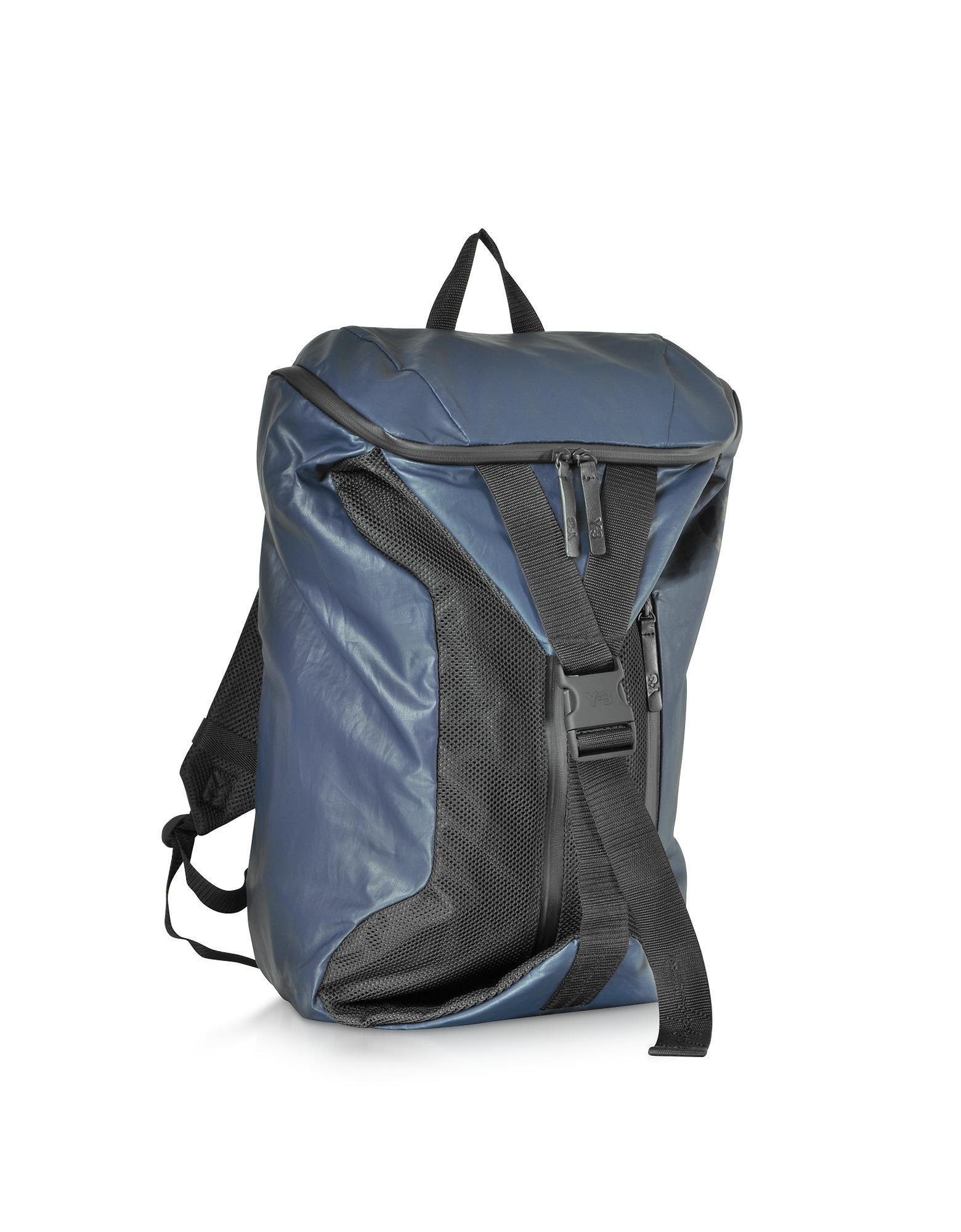 9e7daf30bbec Lyst - Y-3 Blue Nylon Base Backpack in Blue for Men